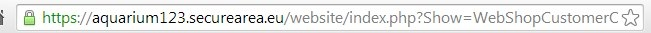 Slotje in browserbalk